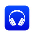 headphone icon digital blue vector image vector image