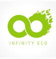 infinity green eco logo concept vector image