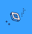 isometric icon square shape with rounded corners vector image
