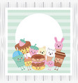 kawaii cartoon image vector image vector image