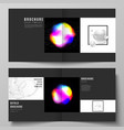 layout of two covers templates for square vector image vector image