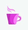 lilac mug of tea or coffee in the morning vector image