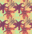 Lilies seamless texture vector image vector image