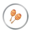 Maracas icon in cartoon style isolated on white vector image