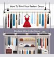 modern wardrobe realistic banners vector image vector image
