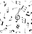 music signs seamless pattern black notes and vector image