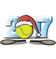 New Year numbers 2017 and tennis ball vector image vector image