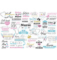 nurse quote medical doctor sayings vector image