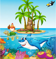 Ocean lives vector image vector image