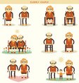 Old people life icons isolated vector image vector image