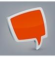 Orange cloud speech vector image vector image