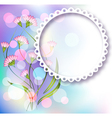 Photo frame and floral ornament vector image