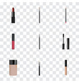 realistic mouth pen cosmetic stick concealer and vector image vector image