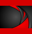 red and black abstract waves background vector image vector image