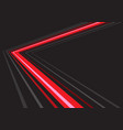 red light grey line arrow direction speed vector image vector image