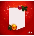 Red traditional Christmas note vector image vector image