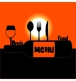 restaurant menu sunset or sunrise vector image