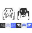 robot bear simple black line icon vector image vector image