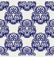 robot skull with gears seamless pattern vector image vector image