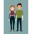 romantic heterosexual couple full body icon image vector image vector image