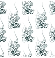 seamless pattern with abstract floral element vector image vector image