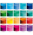 Set of colorful glossy icons vector image