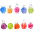 set of cosmetics bottles vector image