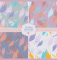 set of four seamless floral background patterns vector image