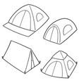 set tent vector image vector image