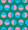 shaded pink and blue semi circles pattern vector image