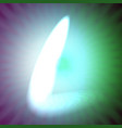 single light blue neon letter l of vector image vector image
