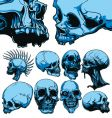 Skull set vector image