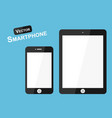 smart phone flat design vector image vector image