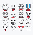 smile constructor different elements for emotion vector image