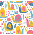 snails pattern vector image vector image