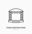 stage constructions flat line icon scene event vector image vector image