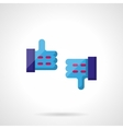Thumbs up and thumbs down color icon vector image