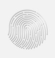 Touch fingerprint radial id app with shadows vector image