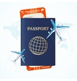 Travel Concept with Passport and Boarding Pass vector image vector image