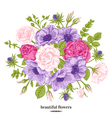 Vintage romantic background with a bouquet vector image vector image