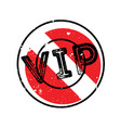 vip rubber stamp vector image vector image