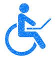 wheelchair grunge icon vector image vector image