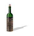 Wine bottle with a cork