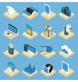 Wireless Technology Isometric Icons On Pedestals vector image vector image