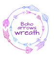 wreaths hand drawn arrows tribal doodle vector image