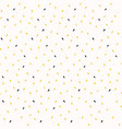 yellow gold ditsy confetti drops trendy print vector image