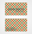 Business card template Background pattern vector image