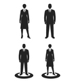 business people black web icon vector image
