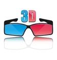 Icon 3D glasses vector image