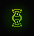dna structure green icon or logo vector image